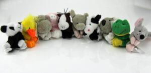 Stofftier-Magneten aus weichem Plüsch - verschiedene Tiere - Magnettiere