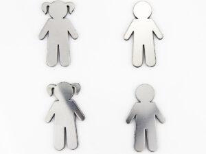 Menschen Magnete - Mädchen Magnet Junge