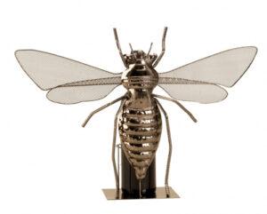 Metall Flaschenhalter Libelle Skulptur 5564