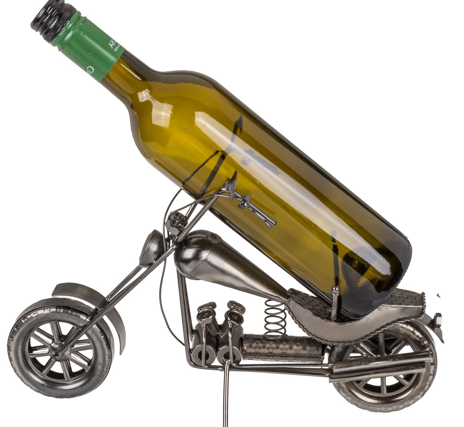 metall flaschenhalter motorrad chopper skulptur. Black Bedroom Furniture Sets. Home Design Ideas