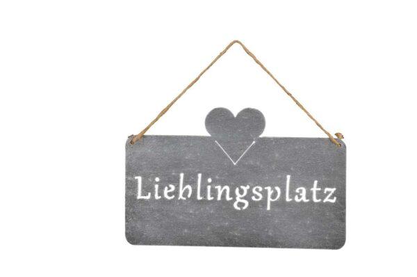 Metall Lieblingsplatz Schild eisen 520685-000-802_s