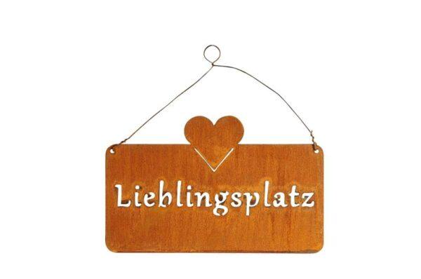 Metall Lieblingsplatz Schild rost 520685-000-712_s