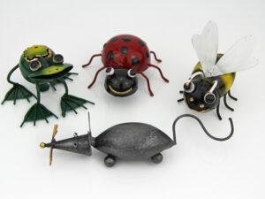 Metall Magnettiere - Biene, Frosch, Marienkäfer, Maus Magnet