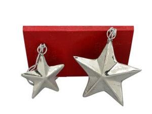 Metall Stern Weihnachtsbaumhänger - Geschenkanhänger Stern - Stern Hänger SUArt