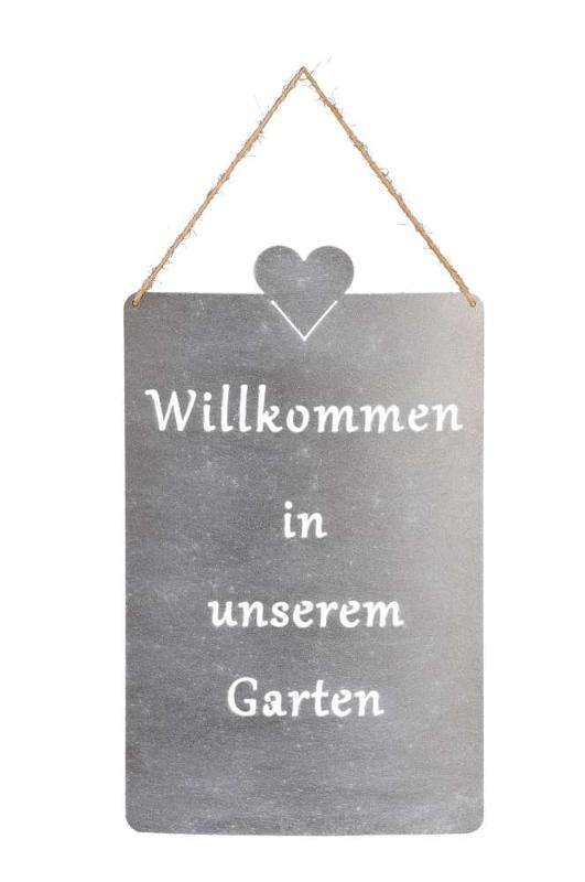 Metall Willkommen in unserem Garten Schild - eisen - Willkommen Gartenschild 520689-000-802_s