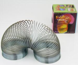Metallspirale Treppenläufer wissenschafts Spielzeug silber Spirale.