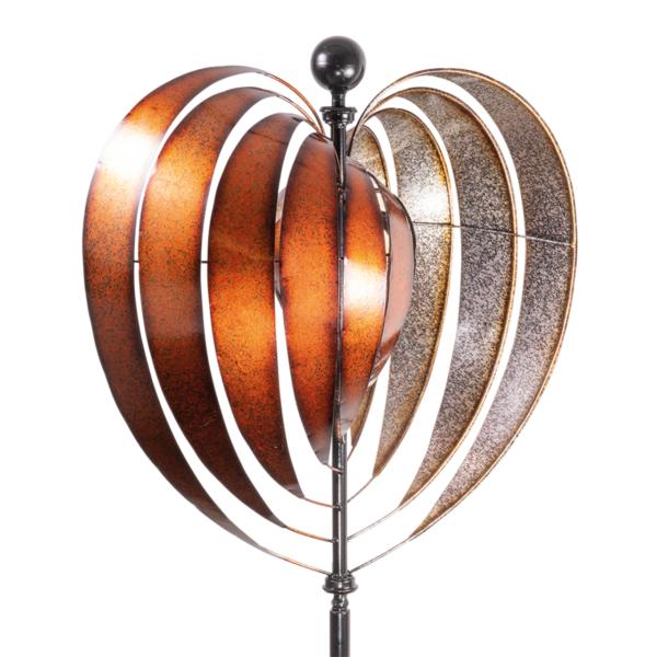 Metallwindrad Herz Kinetic Spinner Heart 54 cm – Premium Windrad XL