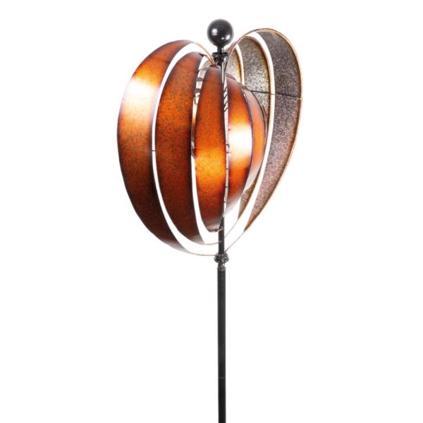 Metallwindrad Herz Kinetic Spinner Heart 54 cm – Premium Windrad XL.