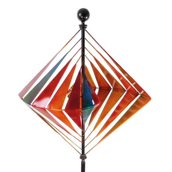 Metallwindrad Karo Kinetic Spinner 60 cm – Premium Windrad XL