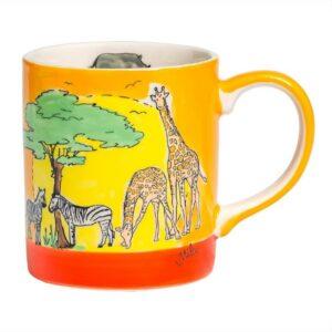 Mila Afrika Becher - 280 ml - Keramik - Safari Tasse 80211