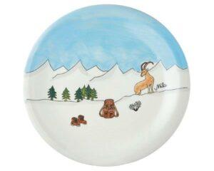 Mila Alpenblick Teller Berge - Geschirr - Keramik