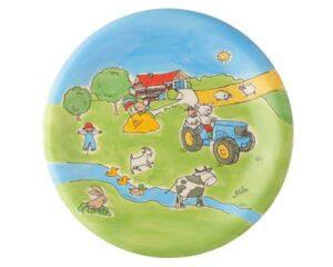 Mila Bauernhof Teller Geschirr – Keramik Teller Durchmesser 22 cm
