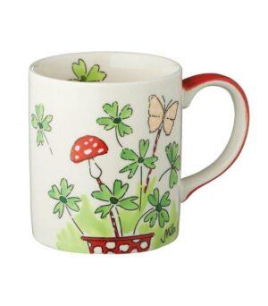 Mila Becher Viel Glück - 280 ml Tasse - Henkelbecher - Keramik