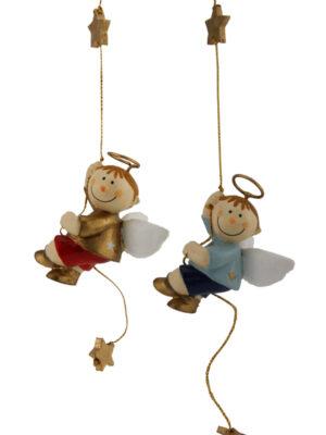 Mila Bengel am Seil - Schutzengel Junge zum Aufhängen
