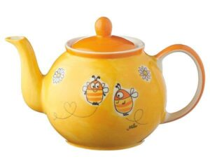 Mila Summ Summ Bienen Kanne 1,2 L - Keramik - Teekanne für Imker Bienenfreunde und Naturliebhaber