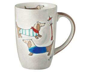 Mila Dackel Designbecher - 230 ml - Tasse - Henkelbecher - Keramik