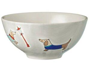 Mila Dackel Schale - Keramik Geschirr - Müslischale 85201