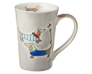 Mila Dackel Teebecher - Keramik Becher - 350 ml 81201