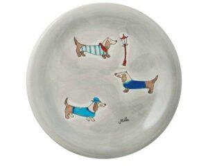 Mila Dackel Teller - Geschirr - Keramik 84201