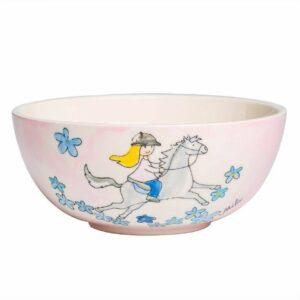 Mila Galopp Kinderschale - Müslischale - Eisschale - Pferd mit Reiterin 96216