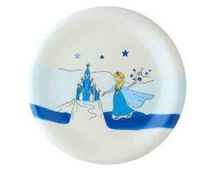 Mila Eisprinzessin Teller Geschirr – Keramik Teller Elsa Prinzessin Durchmesser 22 cm