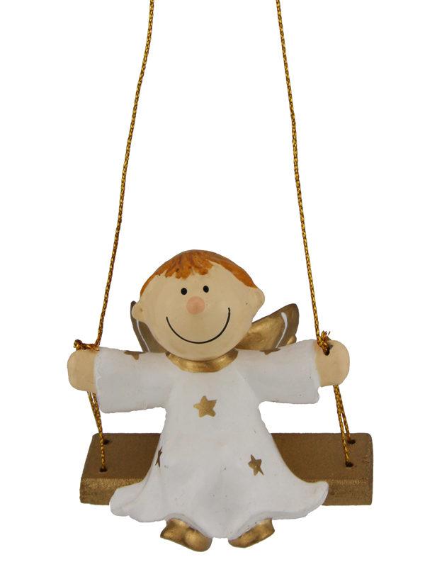 Mila Engel Julius auf der Schaukel - Schutzengel Junge zum hängen