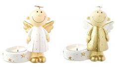 Mila Engel Kerzenhalter Himmelsbote - Deko Schutzengel Teelicht