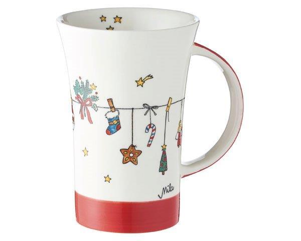 Mila Es weihnachtet sehr Coffee Pot - 500 ml - Keramik - XXL Adventskalenderbecher 82163