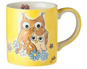 Mila Eulen Becher - Always Love you - 280 ml - Tasse - Henkelbecher - Keramik