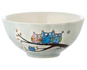Mila Eulen Familie Schale - Keramik Geschirr