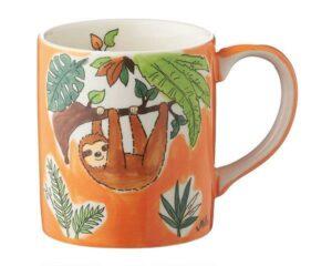 Mila Faultier Becher - 280 ml - Tasse - Henkelbecher - Keramik