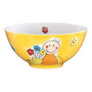 Mila Flowerboy Schale - Keramik - Müslischale Blumenmännchen 85238