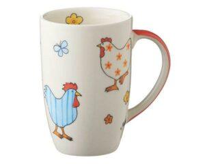 Mila Hühner Designbecher - 230 ml - Tasse - Henkelbecher - Keramik