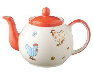 Mila Hühner Kanne 1,2 L - Keramik - Teekanne für Hühnerbesitzer
