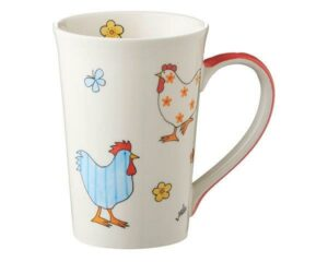 Mila Hühner Teebecher - Keramik - Becher - 350 ml