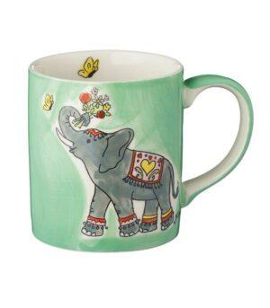 Mila Jumbo Becher Elefant - 280 ml - Tasse - Henkelbecher - Keramik