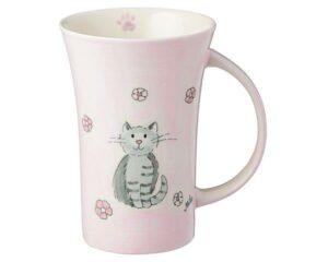 Mila Katze Mia Coffee Pot - 500 ml - Keramik - großer rosa Katzen Becher 82204
