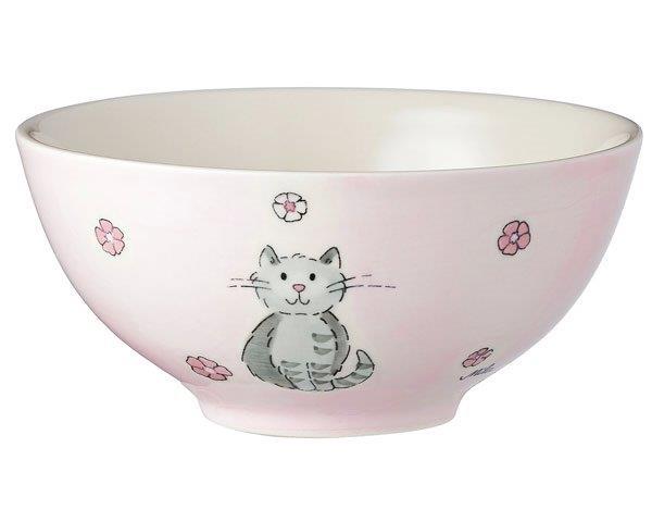 Mila Katze Mia Schale - Geschirr - Keramik - Katze Schale rosa 85204