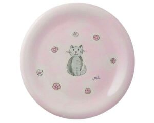 Mila Katze Mia Teller - Keramik - Katzen Teller rosa 84204