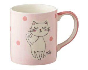 Mila Katze Mizzi Becher - 280 ml - Tasse - Henkelbecher - Keramik - Becher Kätzchen
