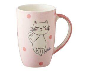 Mila Katze Mizzi Designbecher - 230 ml - Tasse - Henkelbecher - Keramik - Kätzchen Becher