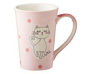 Mila Katze Mizzi Teebecher - Keramik - Becher - 350 ml - großer Becher Kätzchen