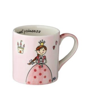 Mila Kinderbecher Prinzessin - 180 ml Tasse - Henkelbecher - Keramik