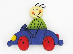 Mila Magnet Mann im Auto - Holz