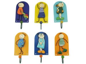 Mila Metall Folk Art - mini Wandhaken - Kinder Garderobe verschiedene Figuren