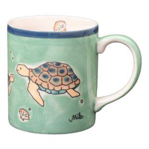 Mila Ocean Love Becher - 280 ml - Keramik - Schildkröte Tasse Meeresschildkröte 80237