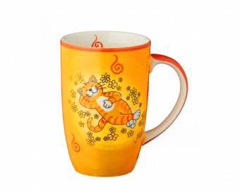 Mila Oommh.. Verschnaufpause Designbecher Katze - Keramik Becher 230 ml f