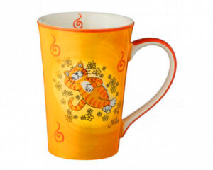 Mila Oommh.. Verschnaufpause Teebecher Katze - Keramik Becher 350 ml f 81195