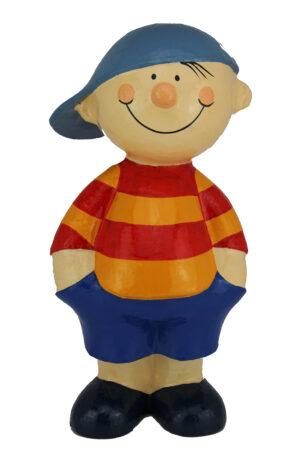 Mila Pappmaché Junge mit Kappe