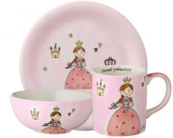 Mila Prinzessin Sammlerset - Becher + Teller + Kinderschale